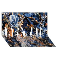 Frost Leaves Winter Park Morning BEST SIS 3D Greeting Card (8x4)