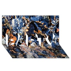 Frost Leaves Winter Park Morning PARTY 3D Greeting Card (8x4)