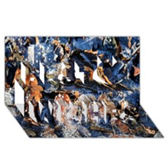 Frost Leaves Winter Park Morning Best Wish 3D Greeting Card (8x4)