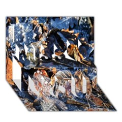 Frost Leaves Winter Park Morning Miss You 3D Greeting Card (7x5)