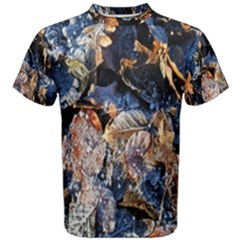 Frost Leaves Winter Park Morning Men s Cotton Tee