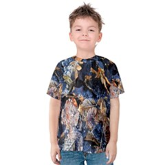 Frost Leaves Winter Park Morning Kids  Cotton Tee