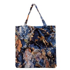 Frost Leaves Winter Park Morning Grocery Tote Bag
