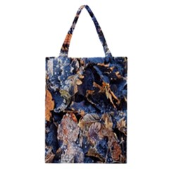 Frost Leaves Winter Park Morning Classic Tote Bag