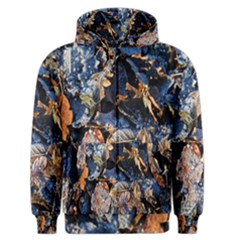 Frost Leaves Winter Park Morning Men s Zipper Hoodie