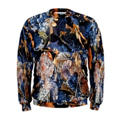 Frost Leaves Winter Park Morning Men s Sweatshirt