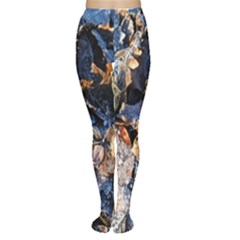 Frost Leaves Winter Park Morning Women s Tights