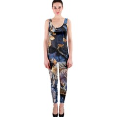Frost Leaves Winter Park Morning OnePiece Catsuit