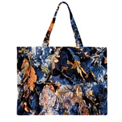 Frost Leaves Winter Park Morning Large Tote Bag