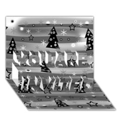 Gray Xmas magic YOU ARE INVITED 3D Greeting Card (7x5)