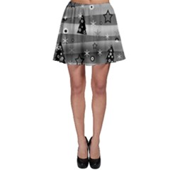 Gray Xmas magic Skater Skirt