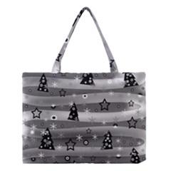 Gray Xmas magic Medium Tote Bag