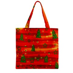 Xmas magic Zipper Grocery Tote Bag