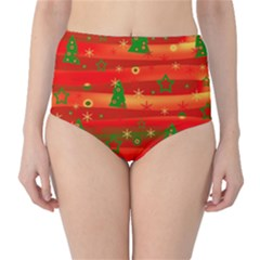 Xmas magic High-Waist Bikini Bottoms
