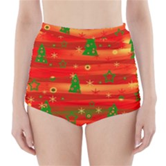 Xmas magic High-Waisted Bikini Bottoms