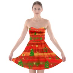 Xmas magic Strapless Bra Top Dress