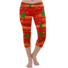 Xmas magic Capri Yoga Leggings