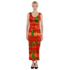 Xmas magic Fitted Maxi Dress