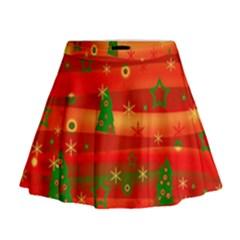 Xmas magic Mini Flare Skirt
