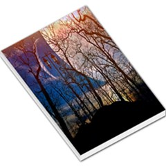 Full Moon Forest Night Darkness Large Memo Pads
