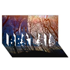 Full Moon Forest Night Darkness BEST SIS 3D Greeting Card (8x4)