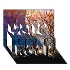 Full Moon Forest Night Darkness You Rock 3D Greeting Card (7x5)