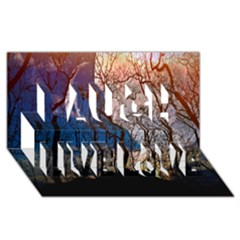 Full Moon Forest Night Darkness Laugh Live Love 3D Greeting Card (8x4)