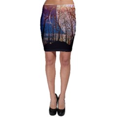 Full Moon Forest Night Darkness Bodycon Skirt