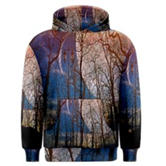 Full Moon Forest Night Darkness Men s Zipper Hoodie