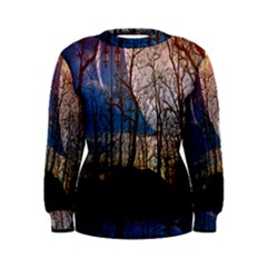 Full Moon Forest Night Darkness Women s Sweatshirt