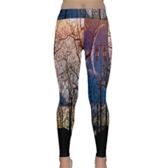 Full Moon Forest Night Darkness Classic Yoga Leggings