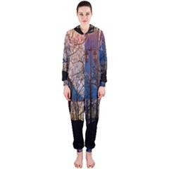 Full Moon Forest Night Darkness Hooded Jumpsuit (Ladies)