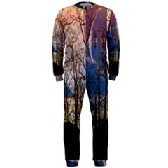 Full Moon Forest Night Darkness OnePiece Jumpsuit (Men)