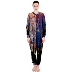 Full Moon Forest Night Darkness OnePiece Jumpsuit (Ladies)