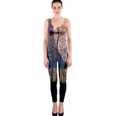Full Moon Forest Night Darkness OnePiece Catsuit