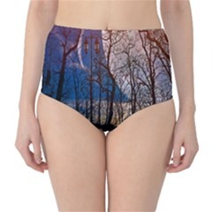 Full Moon Forest Night Darkness High-Waist Bikini Bottoms