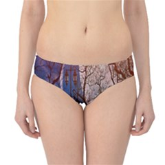 Full Moon Forest Night Darkness Hipster Bikini Bottoms