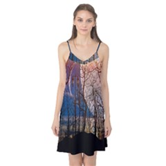 Full Moon Forest Night Darkness Camis Nightgown