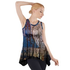 Full Moon Forest Night Darkness Side Drop Tank Tunic