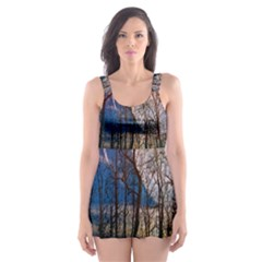 Full Moon Forest Night Darkness Skater Dress Swimsuit