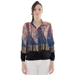 Full Moon Forest Night Darkness Wind Breaker (Women)