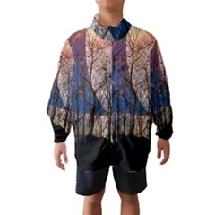 Full Moon Forest Night Darkness Wind Breaker (Kids)