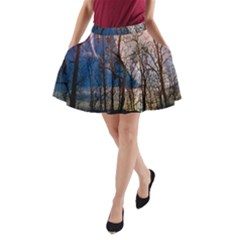 Full Moon Forest Night Darkness A-Line Pocket Skirt