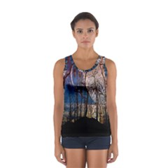 Full Moon Forest Night Darkness Women s Sport Tank Top