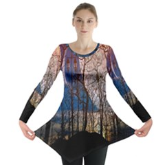 Full Moon Forest Night Darkness Long Sleeve Tunic