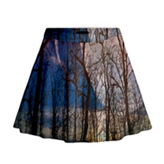 Full Moon Forest Night Darkness Mini Flare Skirt