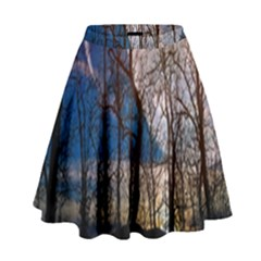 Full Moon Forest Night Darkness High Waist Skirt