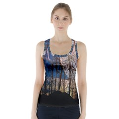 Full Moon Forest Night Darkness Racer Back Sports Top