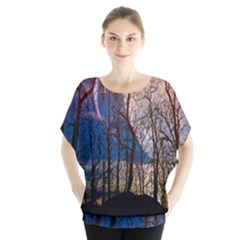 Full Moon Forest Night Darkness Blouse