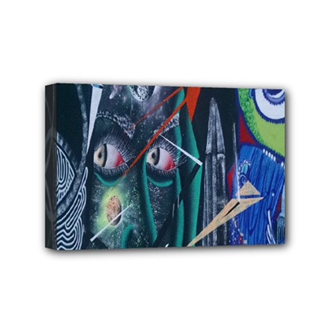 Graffiti Art Urban Design Paint  Mini Canvas 6  x 4